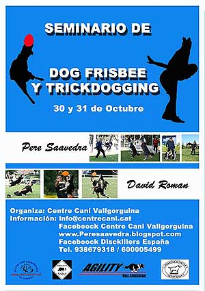 Seminario de dog frisbee/trick dogging