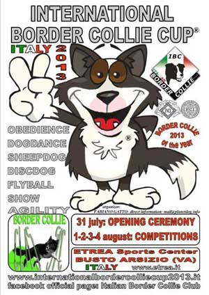 International Border Collie Cup 2013, en Italia.