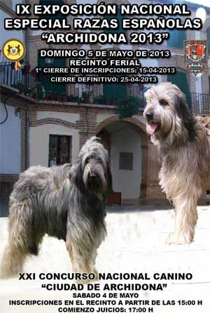 Exposicin Canina Nacional <strong>Razas Espaolas</strong> Archidona 2013