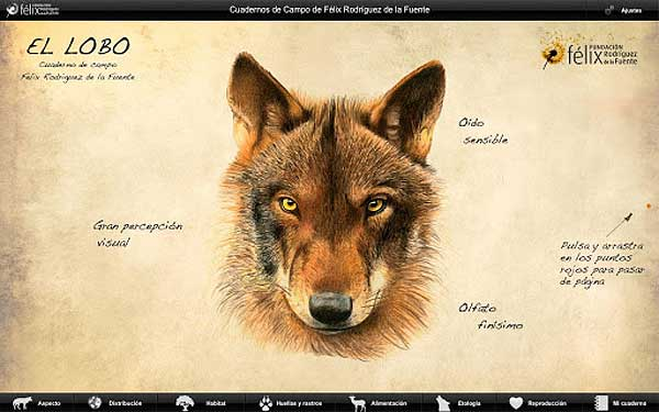<strong>iFelix</strong>, el lobo (app de Flix Rodrguez de la Fuente)