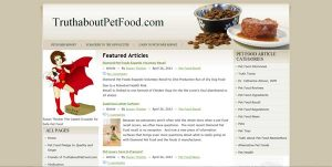 Truth about pet food.