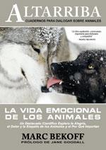 """Portada del libro """"La vida emocional de los animales"""" de MArc Bekoff."""