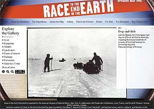 Exposición sobre las expediciones de Amundsen y Scott.