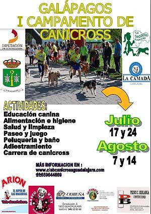 Campamento de verano en Galápagos, con el Club Canicross Guadalajara.