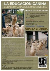 Charla gratuita: la educación canina, base para una mejor convivencia.