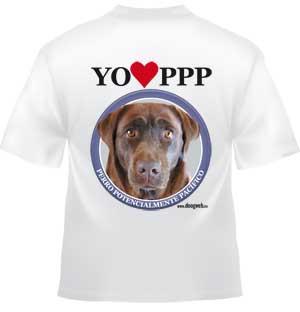Camiseta doogweb labrador retriever.