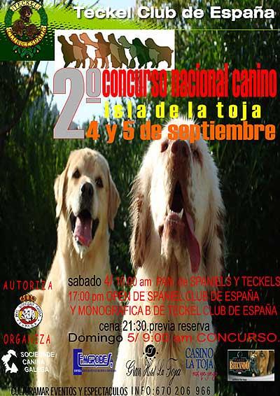 II Concurso Nacional Canino Isla de La Toja.