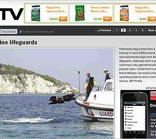 Terranovas, rescate acuático en Italia.