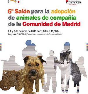 6º Salón para la adopción de animales de Compañía de la Comunidad de Madrid.