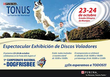 Primera prueba nacional de dog frisbee con David Román.