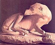Representación de perro en Grecia.