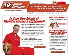 Posible solución para el miedo a las tormentas en los perros
