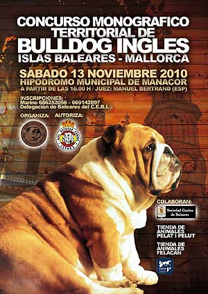 Concurso canino monográfico de bulldog inglés, Mallorca