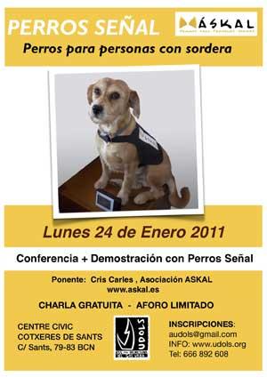 Perros señal, charla gratuita con Udols-Askal.