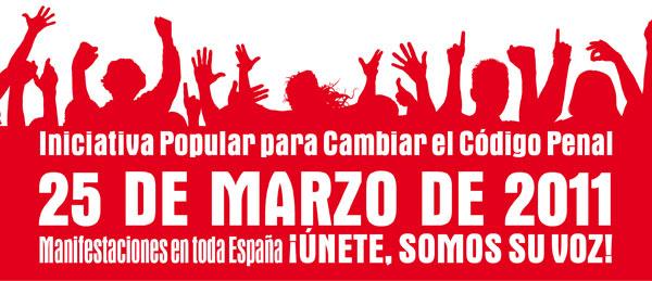 25 marzo, manifestación contra el maltrato animal.