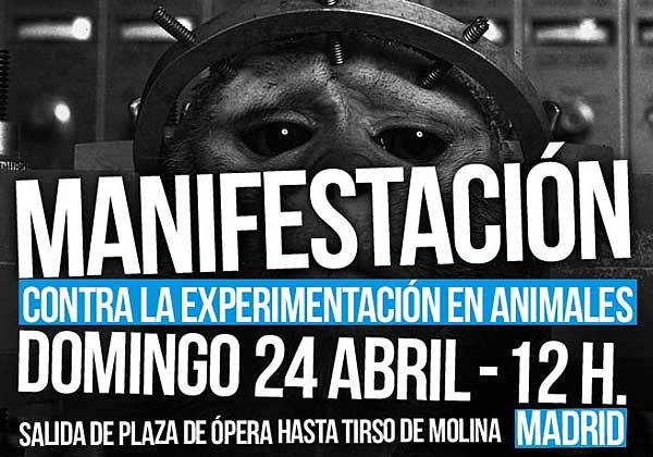 Día del Animal de Laboratorio en Madrid.