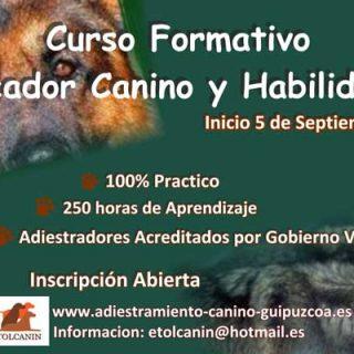 Cursos de Educador Canino con Etolcanin.