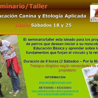 Seminario/Taller Educación Canina con Etolcanin.