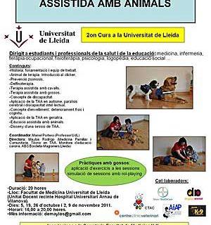 II Curso de Introducción a las Terapias Asistidas con Animales en la Universidad de Lleida (UDL) .