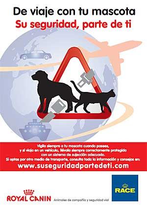 """""""Su seguridad parte de ti"""", campaña RACE/Royal Canin."""