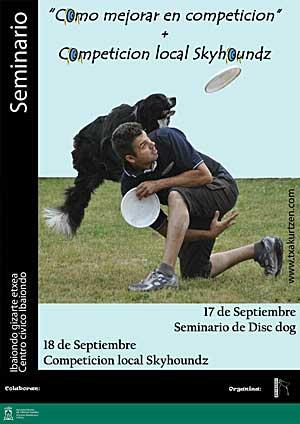 Seminario de disc dog con Con Diego Marchetti, juez internacional de la Skyhoundz.