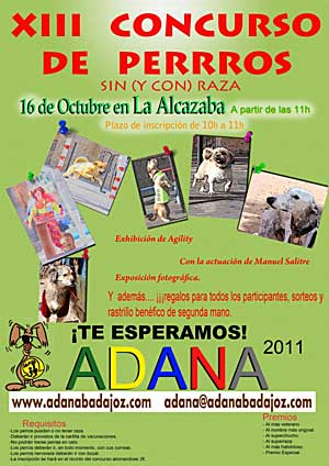 Concurso de perros sin raza, ADANA Badajoz.