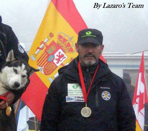 Entrevista exclusiva con Lázaro Martínez Sonsona, Bronce en el Mundial de Borke (kart con 8 perros nórdicos).