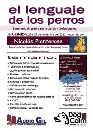 """""""El lenguaje de los perros"""" a cargo de Nicolás Planterose (Castellón)."""