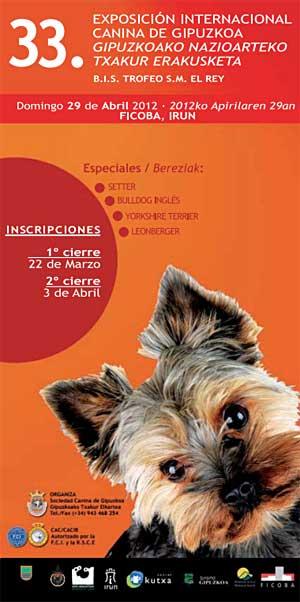 Exposición Canina Internacional de Guipúzcoa con especiales de bulldog inglés, setter, leonberger y Yorksire terrier.