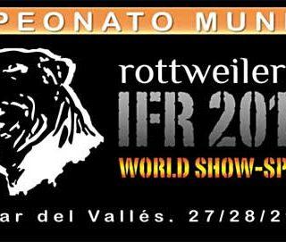 450 Rottweilers participan en el IFR-World Show 12 en Barcelona, el Campeonato del Mundo de Belleza Rottweiler. Próximo fin de semana.