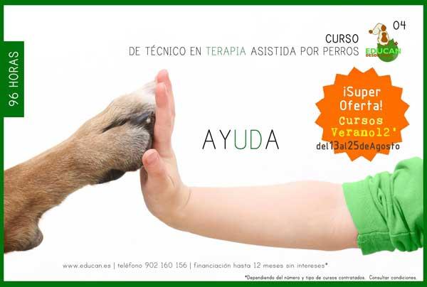 Curso EDUCAN de Técnico en Terapia Asistida por Perros, y artículo de Carlos Alfonso López García.