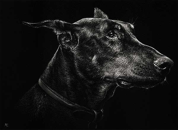 Cristina Penescu y sus obras de arte con perros y animales como protagonistas (con vídeo).