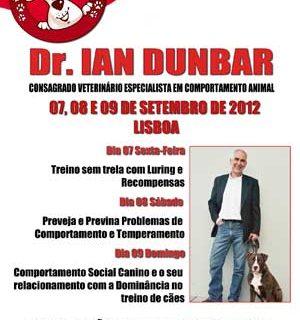 Próximo septiembre, triple seminario de Ian Dunbar en Lisboa.