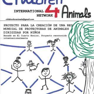 """Proyecto Educativo Children for Animals, International Network. """"Si un niño o una niña tratan a un animal de forma amable, si él o ella usan la empatía para sentir de la misma manera que lo hace un animal maltratado, tenemos la convicción de que serán adultos amables con los animales y con los de su propia especie""""."""