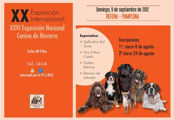 XX Exposición Canina Internacional de Navarra, horarios, cómo llegar...