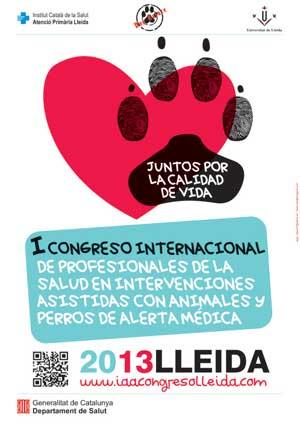I Congreso Internacional de Profesionales de la Salud en Intervenciones Asistidas con Animales y Perros de Alerta Médica, en Lleida.