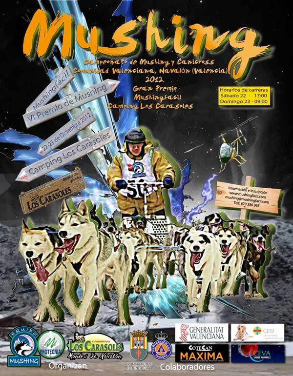 Campeonato de Mushing y Canicross Comunidad Valenciana, próximos 22 y 23 de diciembre.