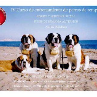 IV Curso de Entrenamiento de Perros de Terapia, complemento del Ciclo formativo de terapia y actividades asistidas con perros