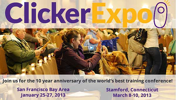 ClickerExpo 2013, décimo aniversario del gran acontecimiento del adiestramiento con clicker, de la mano de Karen Pryor.
