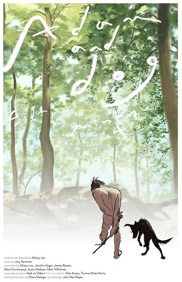 Adán y el perro, nominado al Óscar como mejor corto de animación. Sublime.