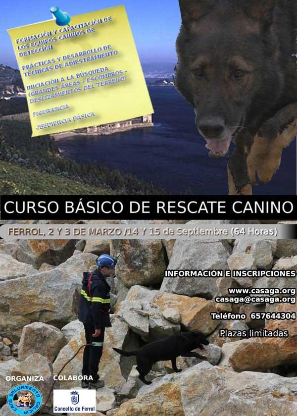 Curso de iniciación al Rescate Canino, con Cans de Salvamento de Galicia.
