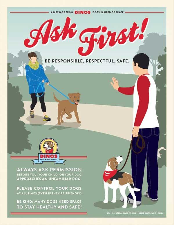 DINOS, por el respeto hacia los perros que necesitan espacio.