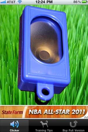 Un clicker en tu smartphone, disponible para iPhone o Android. #Adiestramiento #perro.