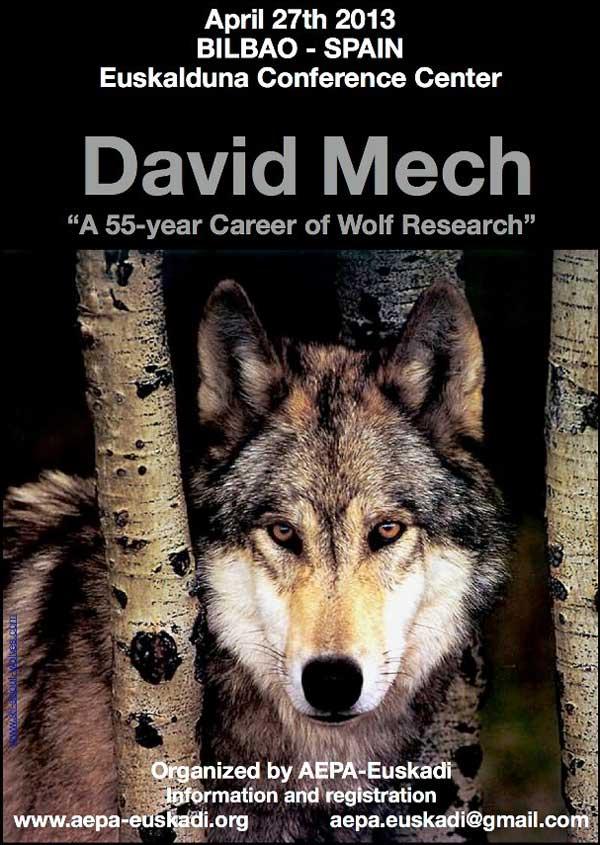 """#Etología #Lobos #Perros. David Mech en España, impresiones... """"55 años de carrera en la investigación del Lobo""""."""