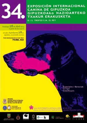34 Exposición Canina Internacional de Guipuzkoa, con especiales de setter y dobermann.