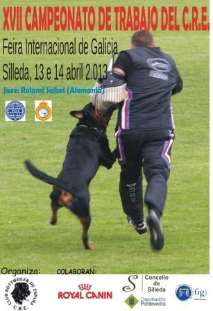 La Feira Internacional de Galicia acogerá del 18 al 20 de octubre el Campeonato del Mundo de Trabajo de Rottweiler 2013.