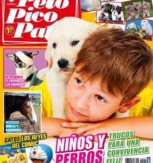 Pelo Pico Pata, junio 2013: Niños y perros (cómo mejorar la convivencia), Disc dog, cómo dar cariño a los perros sin molestarlos, Aniversario de ANAA, como raza principal el pastor blanco suizo, enfermedades de los párpados en los perros (veterinaria), perros con discapacidad...