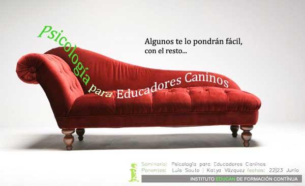 """Seminario EDUCAN """"Psicología para educadores caninos"""". #Adiestramiento #Perros @educan_es."""