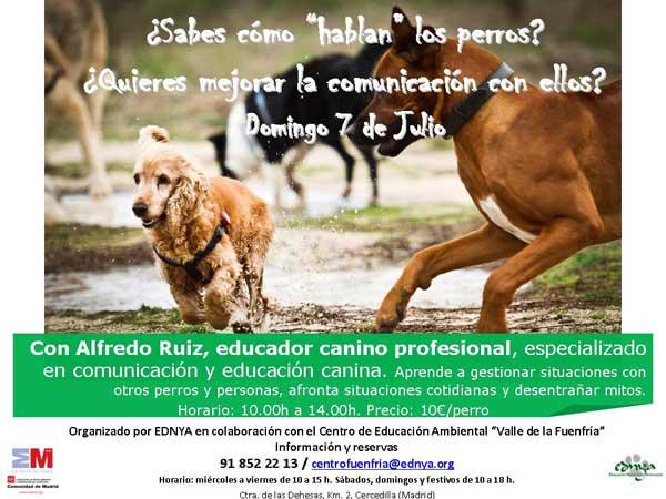 ¿Cómo hablan los perros?: charlas didácticas el 7 julio en el Centro de Educación Ambiental Valle de la Fuenfría.