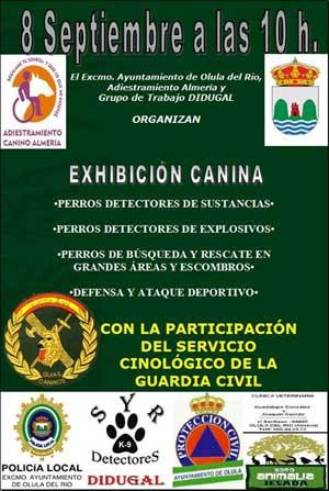 Exhibición canina en Olula del Río.